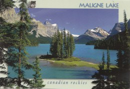 BT16488 Jasper National Park Maligne Lake  2 Scans - Jasper