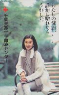 Télécarte Japon - CROIX ROUGE / Femme - RED CROSS Girl Japan Phonecard - ROTES KREUZ Telefonkarte - 386 - Advertising