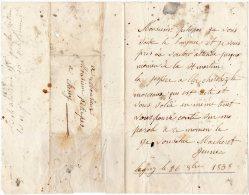 VP348 - LAGNY 1838 - Lettre Pour Mr PETITPAS à  CHESSY - Manuscrits