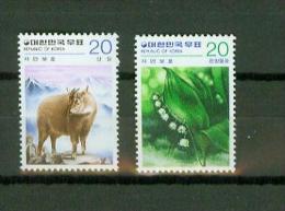 Korea South 1979,2V,deer,muntjak,flow Ers,bloemen,fleurs,MNH/Po Stfris, (D1672) - Unclassified