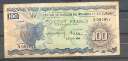 RWANDA BURUNDI 100 Francs 1960 P5 VF+ + - Ruanda-Urundi