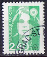Timbre Oblitéré N° 2820(Yvert) France 1993 - Marianne Du Bicentenaire 2.40 F Vert - 1989-96 Marianne Du Bicentenaire