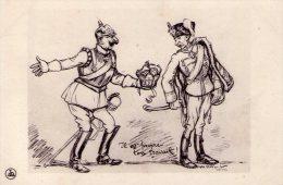 Propagande Patriotique Politique Militaria France Allemagne Couronne Conflit Guerre Massacre Kronprinz - Patriotic