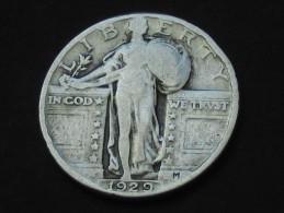 Etats-Unis -USA -  Quarter Dollar 1929 - Standing Liberty -  United States Of America - 1916-1930: Standing Liberty (Libertà In Piedi)