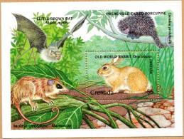N° Yvert 230 - Bloc Feuillet De Grenade (1990) - MNH - Oryctolagus Cuniculus (JS) - Grenada (1974-...)
