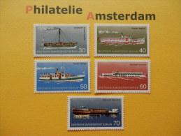 Germany Berlin 1975, VERKEHRSMITTEL SHIPS BATEAUX SCHEPEN SCHIFFE NAVI NAVES: Mi 483-87, ** - Barcos