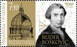 RUDJER BOSKOVIC ( Croatia MNH**) Physicist Mathematician Astronomer Philosopher Physics Mathematics Astronomy Philosophy - Physics