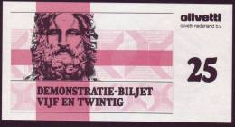 "Test Note  Test Note  ""Olevetti "",  25 Units, Both Sides, UNC , Rare - Paesi Bassi"