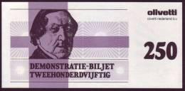 "Test Note  Test Note  ""Olevetti "",  50 Units, Both Sides, UNC , Rare - Niederlande"