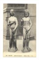 Cp, Sculptures, Rouen (76) - Musée St-Laurent - Adam Et Eve - Sculptures