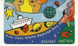 Austria-(f15)-casinos Austria-(20units)-(604l)-tirage-3.450-used+1 Card Prepiad Free - Austria