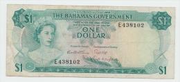 BAHAMAS 1 DOLLAR ND 1965 AVF P 18b 18 B - Bahamas