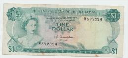 Bahamas 1 Dollar 1974 VF Crisp Banknote P 35a 35 A - Bahamas