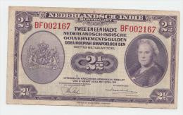 Netherlands Indies 2 1/2 Gulden 1943 VF P 112 - Dutch East Indies