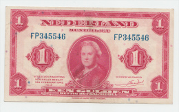Netherlands 1 Gulden 1943 VF+ P 64 - [2] 1815-… : Koninkrijk Der Verenigde Nederlanden