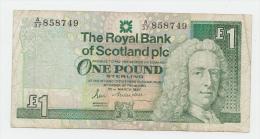 Scotland 1 Pound 1987 VF Banknote P 346 - [ 3] Scotland