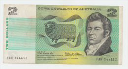 Australia 2 Dollars Banknote 1966 VF+ P 38a - Emissioni Governative Decimali 1966-...