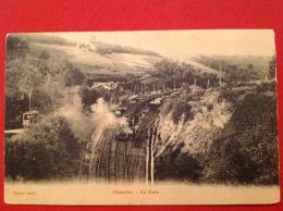 Cpa 42 CHAZELLES Sur LYON Gare Et Train - Sonstige Gemeinden