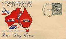 1949  Hermes And Globe  World Wide Generic Cachet Unaddressed  -  Archerfield Qld. Cancel - FDC