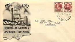 1950 Stamp Centenary Se-tenant Pair   World Wide Black Cachet  - Largs North Cancel - FDC