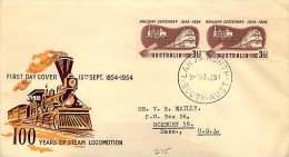 1951  Railways Centeenary  Pair   - Largs North Cancel  To USA - FDC