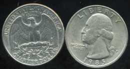 UNITED STATES - USA - Quarter 25 Cents  1985  P - Émissions Fédérales