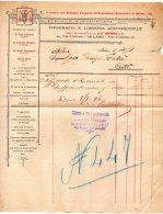 1896 FATTURA  MILANO - LIBRERIA ARCIVESCOVILE - Italia