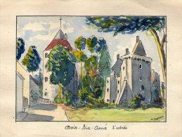 Dessin , 11 X 15.5 Cm , 18 , CHER , VORLY , Château , GOIS SIR AME , L'entrée - Tekeningen