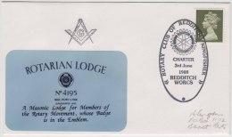 Freemasonry, Compass, Masonic Cover, Rotarian Lodge # 4195, Rotary Club, Great Britain - Freemasonry