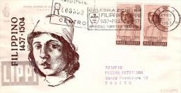 Fdc Venetia Italia: FILIPPINO (1957);Raccomandata; Annullo Speciale A Targhetta-Prato(Fi) - F.D.C.