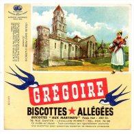Buvard - Biscottes Allégées Grégoire - L'Eglise Saint Pierre D'Uzerche - (Corrèze) - Biscottes