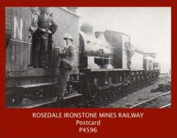 P4596  Rosedale Ironstone Mine Railway (Engine + Rolling Stock Etc.)  (c.1970's Postcard) - Unclassified