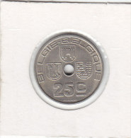 25 CENTIMES Maillechort Léopold III 1938 FL/ FR - 1934-1945: Leopold III