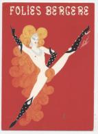 ILLUSTRATEUR  L 84  FOLIES BERGERES  PAR ERTE  ANNEE 80 CPM / CPSM 10 X 15    TBE - Other Illustrators