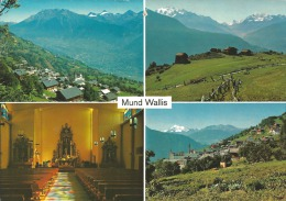 Mund Wallis, Zu. 598 Escalade Genève, Stempel: 3900 Brig 28.7.87 + Werbestempel: Ultra -  Kurz - Wellen - VS Valais