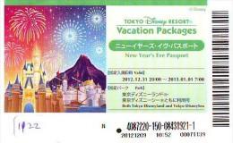 Disney Passeport Entreecard JAPON * TOKYO DISNEY RESORT *  Passport (1122) JAPAN * NEW YEAR'S EVE PASSPORT - Disney
