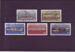 B Michel Katalog Nr. 483 - 87  Berliner Personenschiffahrt - Gebruikt