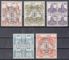 BUND  1139-1143   4er-Blöcke  Burgen Und Schlösser    Gestempelt  Oo    (505d) - Gebruikt