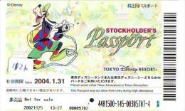 Disney Passeport Entreecard JAPON * GOOFY * TOKYO DISNEY RESORT * STOCKHOLDERS  Passport (1126) JAPAN * PASS - Disney