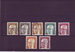 B Michel Katalog Nr. 427 - 33  Bundespräsident Dr. G. Heinemann - Gebruikt