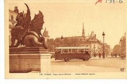 PARIS  -6° Arrondissement-Place Saint-Michel - AUTOBUS PARISIEN - Beau Plan - Transport Urbain En Surface