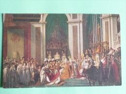 Sacre De NAPOLEON Par Le Pape PIE VII à ND De PARIS , Peinture De DAVID - History