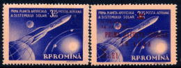 ROMANIA 1959 Satellite Launch And First Flight MNH / **.  Michel 1764 And 1794. - 1948-.... Republics