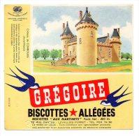 Buvard - Biscottes Allégées Grégoire - Château De Combourg (Ille Et Vilaine) - Zwieback