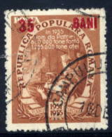 ROMANIA 1952  35 B. Red Surcharge On 4 L. Five Year Plan  Used.  Michel 1356b - 1948-.... Republics