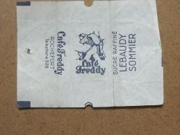 Emballage De Sucre Ancien LEBAUDY SOMMIER Café Freddy 159 - Sugars