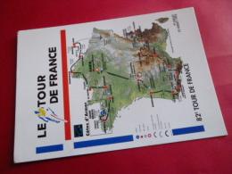Cyclisme  82 TOUR DE FRANCE 1995 Carte Geographique  Publicite Dynapost NON Circulee Velo - Cycling