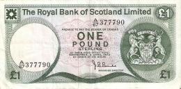 BILLETE DE ESCOCIA DE 1 POUND DEL AÑO 1973  (BANKNOTE) - [ 3] Escocia