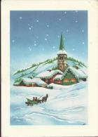 HAPPY NEW YEAR - Churche Covered With Snow, 1972., Yugoslavia (Foto-Tehnika, Zagreb) - Anno Nuovo