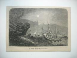 GRAVURE 1864. LE ROCHER DE CHARYBDE, DETROIT DE MESSINE. - Prints & Engravings